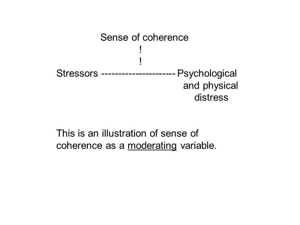 Sense of coherence .