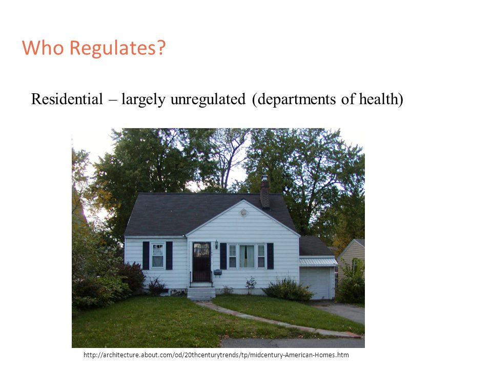 Who Regulates.However, what comes in is generally regulated….