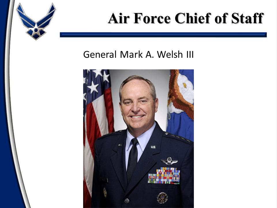 General Mark A. Welsh III Air Force Chief of Staff