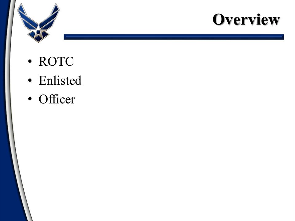 ROTC Enlisted OfficerOverview