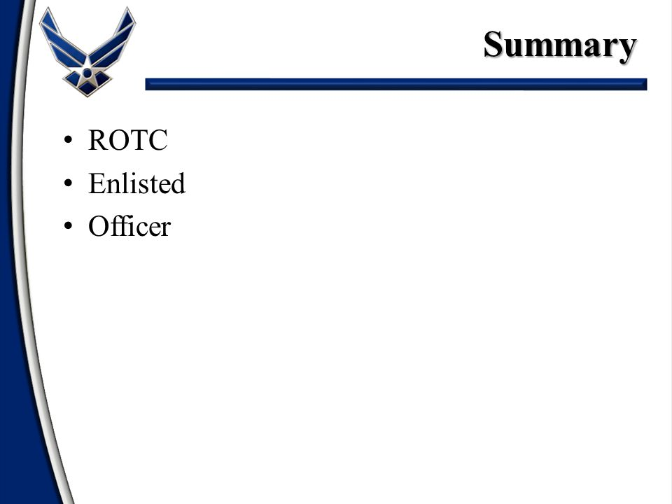 ROTC Enlisted OfficerSummary