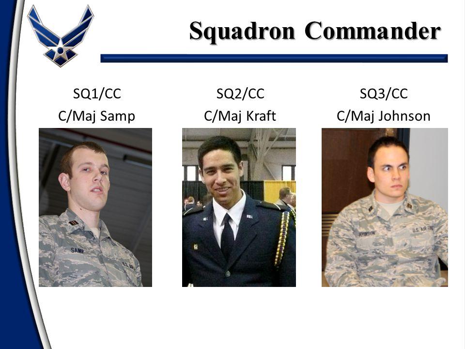 Squadron Commander SQ1/CC C/Maj Samp SQ2/CC C/Maj Kraft SQ3/CC C/Maj Johnson