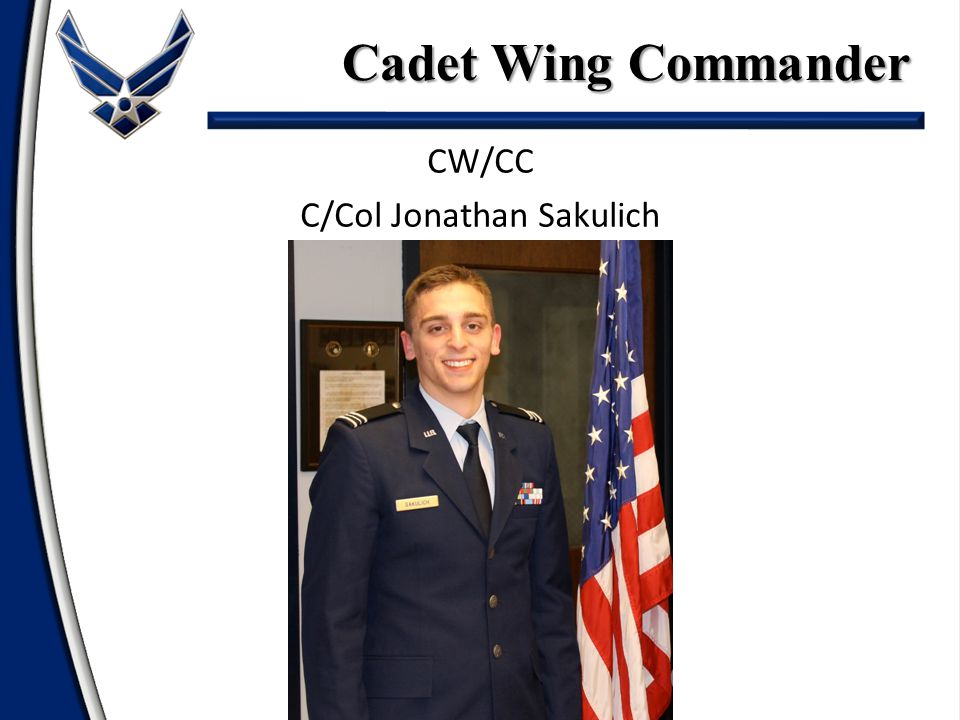 CW/CC C/Col Jonathan Sakulich Cadet Wing Commander