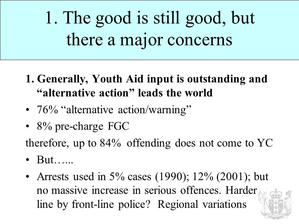 1. The good is still good, but there a major concerns 1.