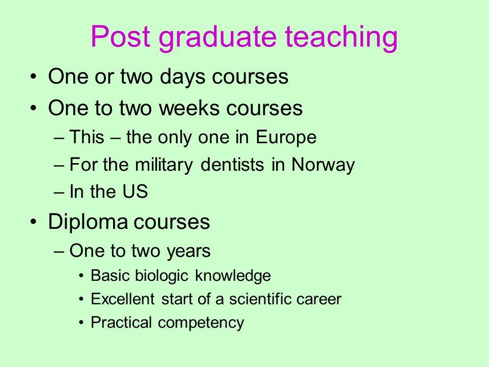 Diploma courses Cardiff, England, (David Whittaker) Leuven, Belgium, (Guy Willems) Melbourne, Australia (John Clement) Vancouver, Canada (David Sweet) Montreal, Canada (Richard Dorion) –Internet based