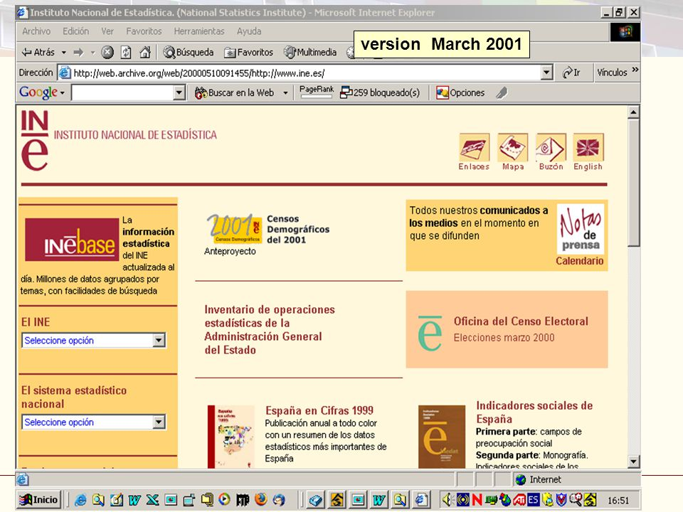 Disseminating statistics: Internet and Publications Madrid, 3-5 March 2008 43 version March 2001