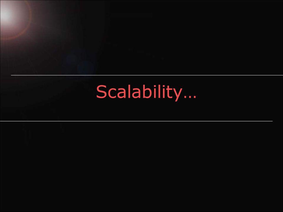 Scalability…