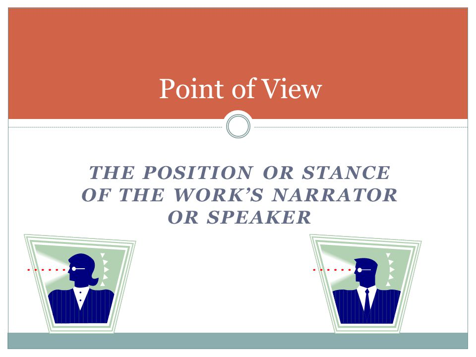 General Strategies Goal: explain how point of view contributes to making the work exactly as it is In prewriting, consider the following  Language  Authority  Opportunity for observation  Involvement or detachment of the speaker  Selection of detail  Interpretive commentaries  Narrative development