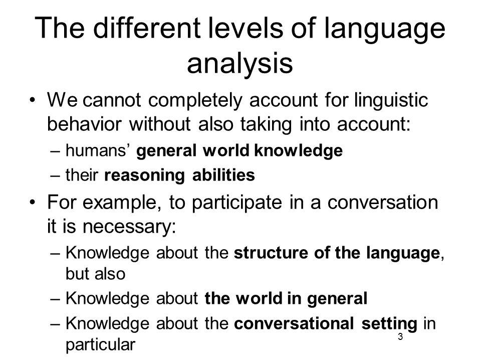 Syntactic knowledge Syntactic categories: adjective (ADJ) adjective phrase (ADJP) adverb (ADV) adverbial phrase (ADVP) article (ART) auxiliary verb (AUX) determiner (DET) noun (N) noun phrase (NP) preposition (P) 14 prepositional phrase (PP) pronoun (PRO) relative clause (REL) relative pronoun (REL- PRO) quantifying determiner (QDET) sentence (S) verb (V) verb phrase (VP)