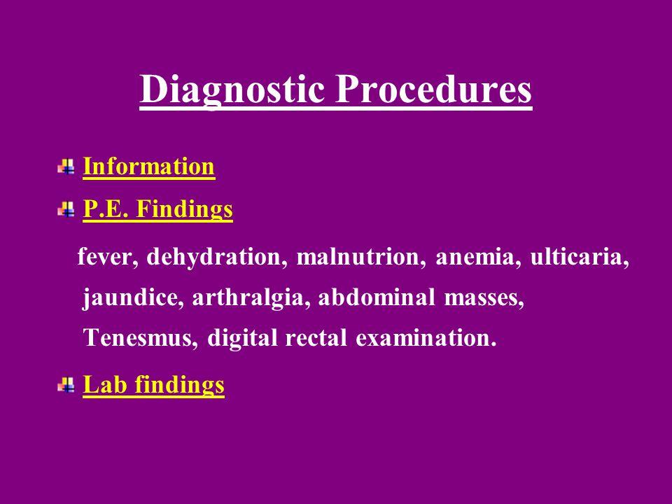 Diagnostic Procedures Information P.E.