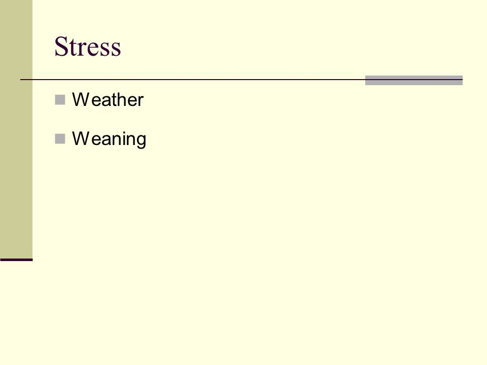Stress Weather Weaning