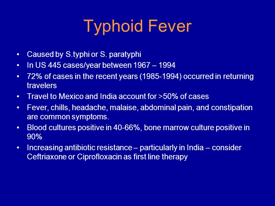 Typhoid Fever Caused by S.typhi or S.