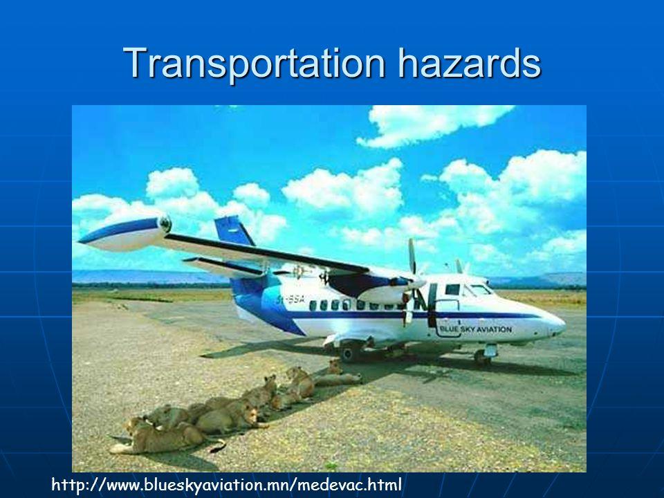 Transportation hazards http://www.blueskyaviation.mn/medevac.html