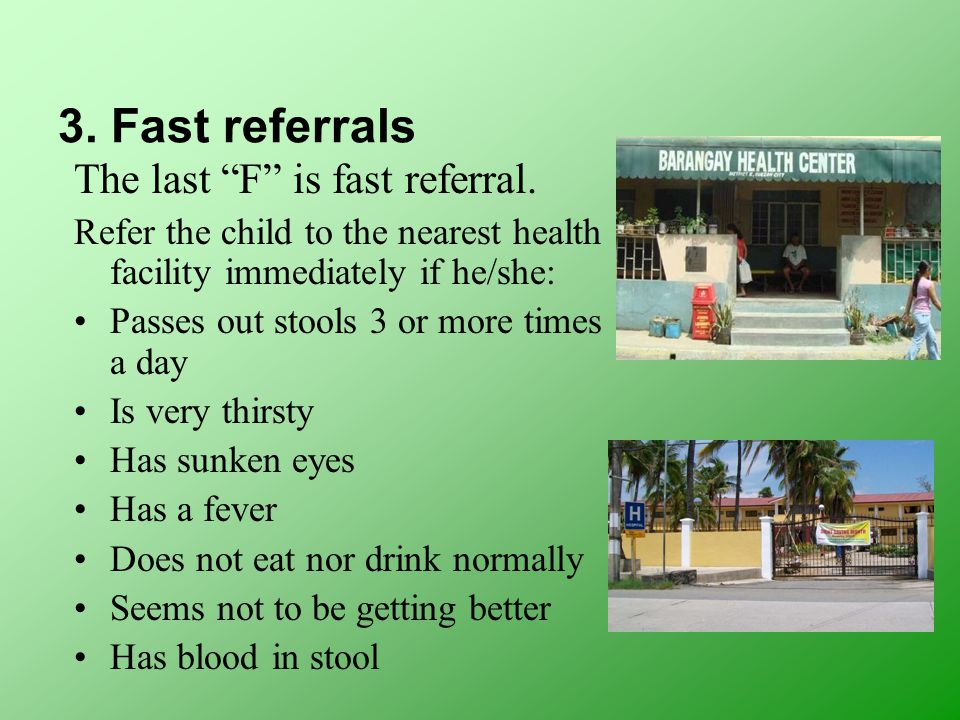 3. Fast referrals The last F is fast referral.