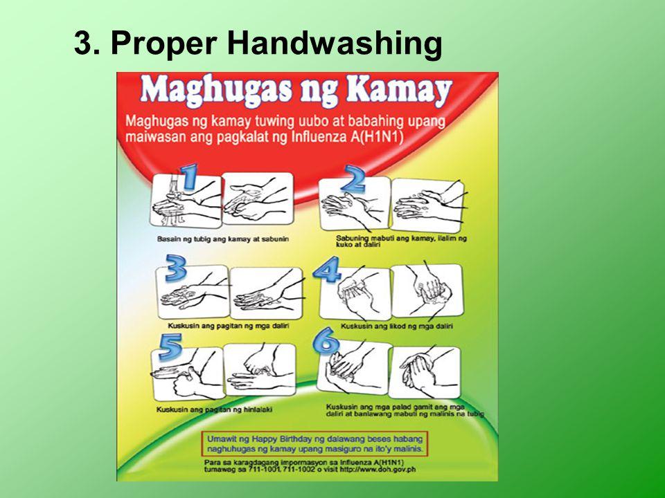 3. Proper Handwashing