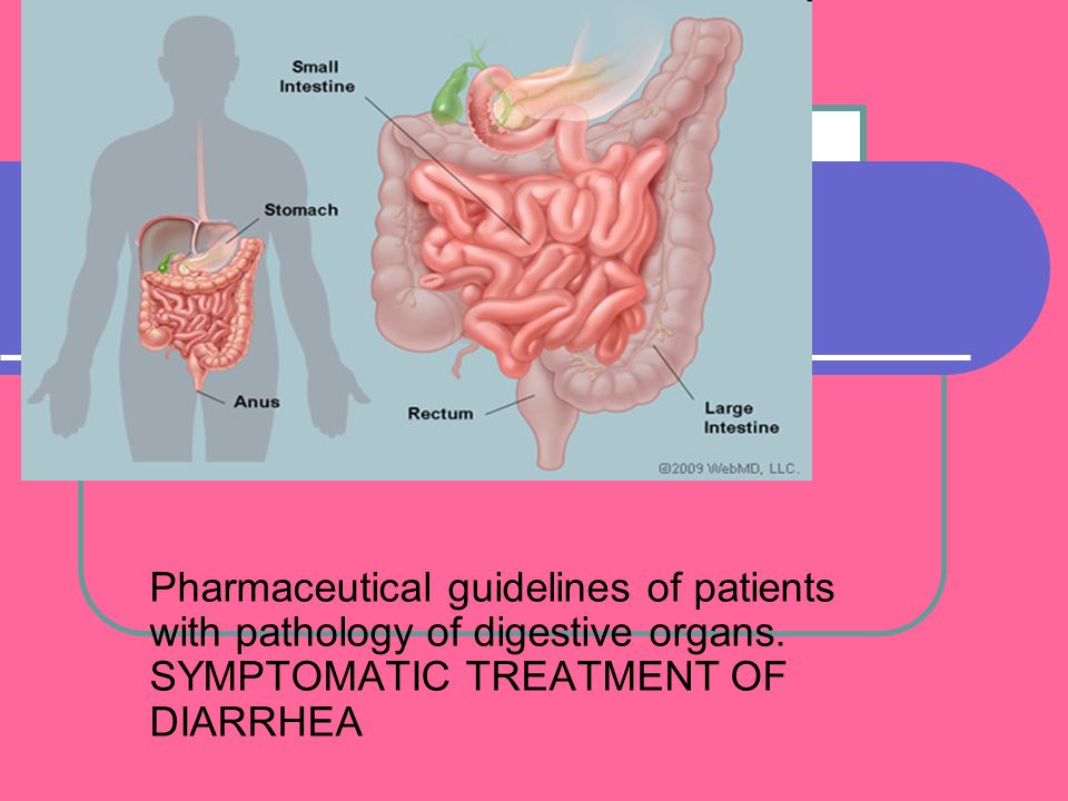 Pharmaceutical guidelines of patients with pathology of digestive organs. SYMPTOMATIC TREATMENT OF DIARRHEA