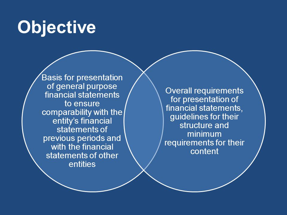 Objective Basis for presentation of general purpose financial statements to ensure comparability with the entity's financial statements of previous pe
