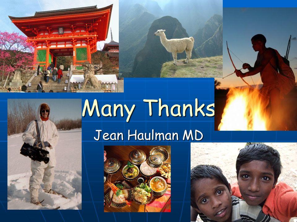 Many Thanks Jean Haulman MD