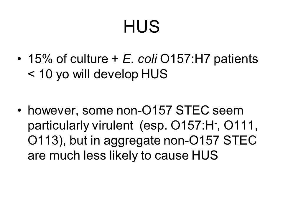 HUS 15% of culture + E.