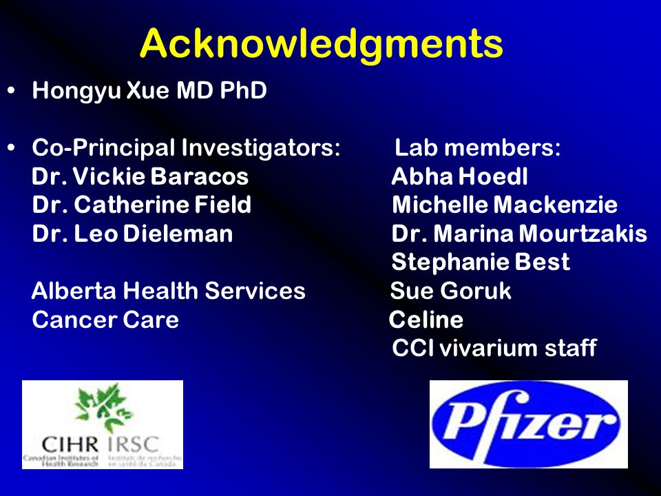 Acknowledgments Hongyu Xue MD PhD Co-Principal Investigators: Lab members: Dr.
