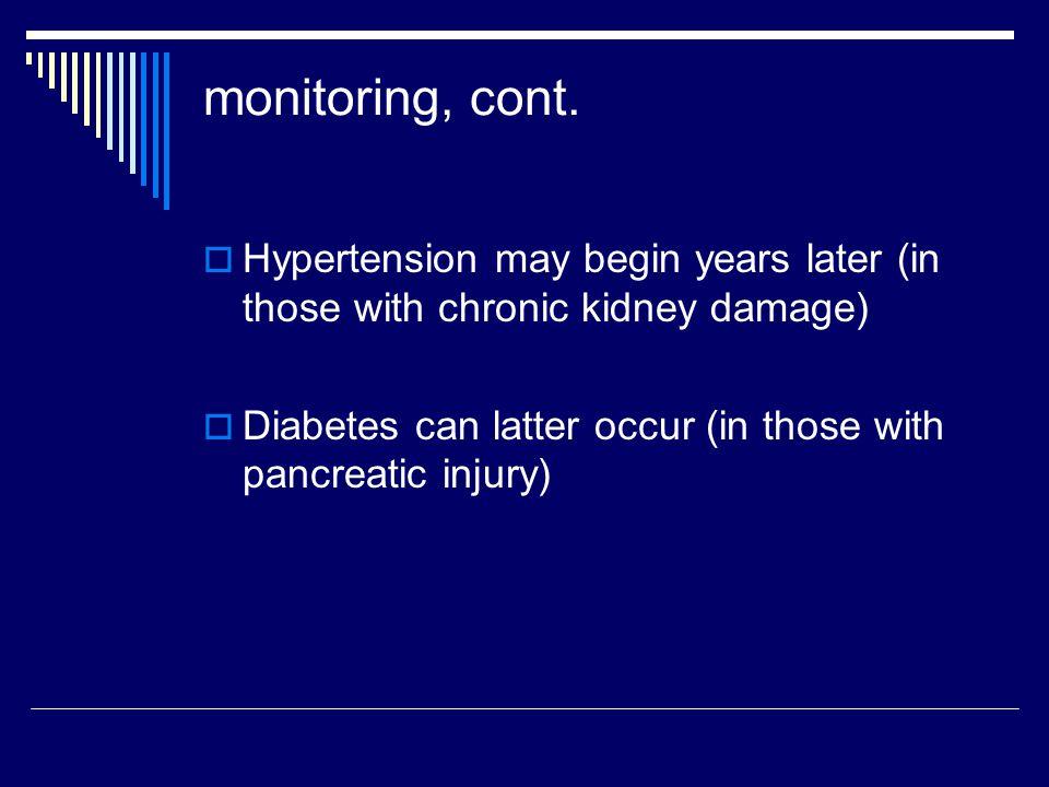 monitoring, cont.