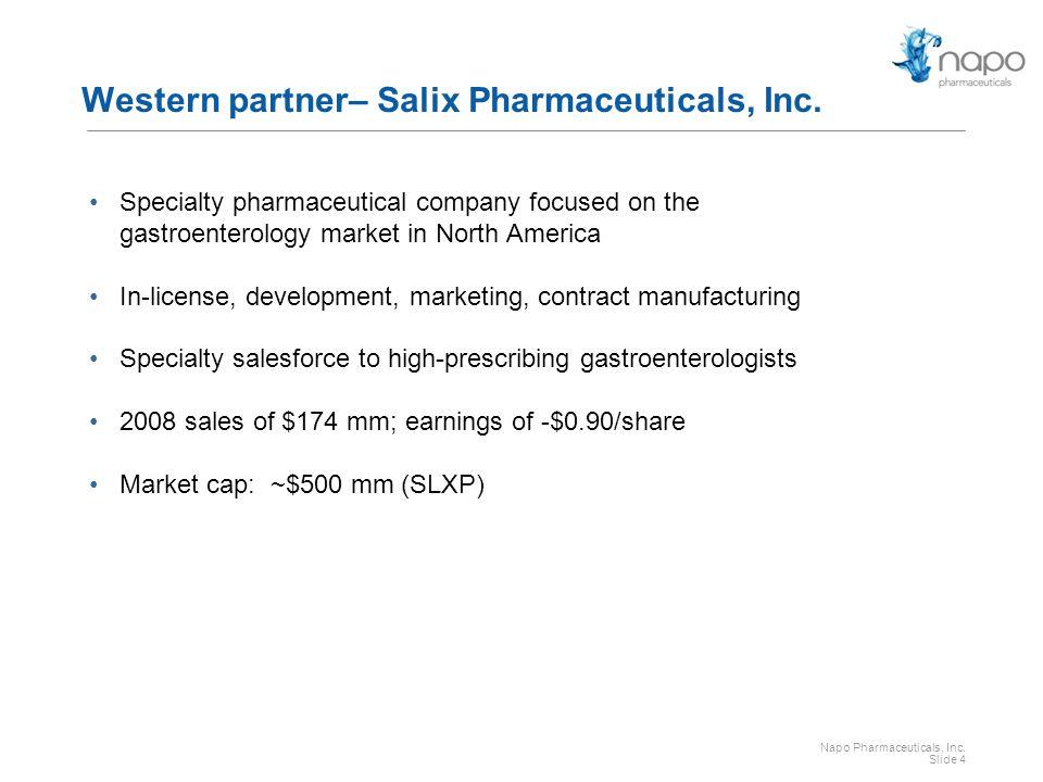Western partner– Salix Pharmaceuticals, Inc.