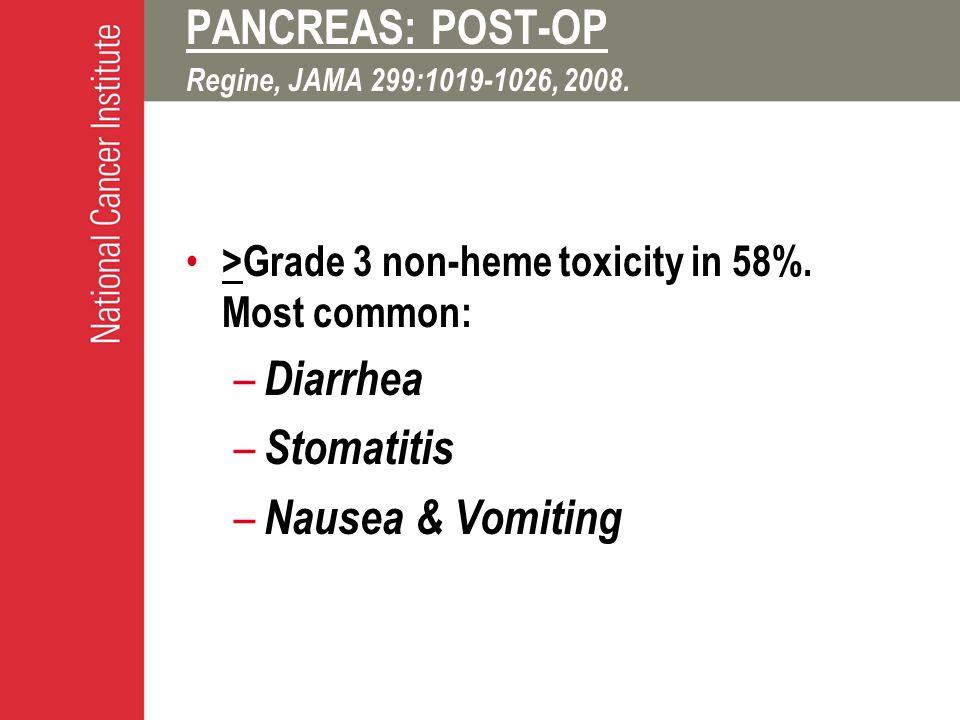 PANCREAS: POST-OP Regine, JAMA 299:1019-1026, 2008.