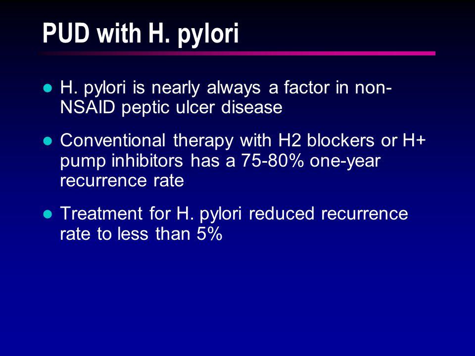 PUD with H. pylori H.