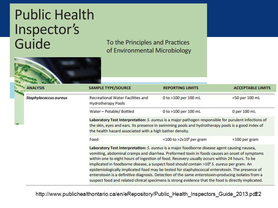 22 http://www.publichealthontario.ca/en/eRepository/Public_Health_Inspectors_Guide_2013.pdf