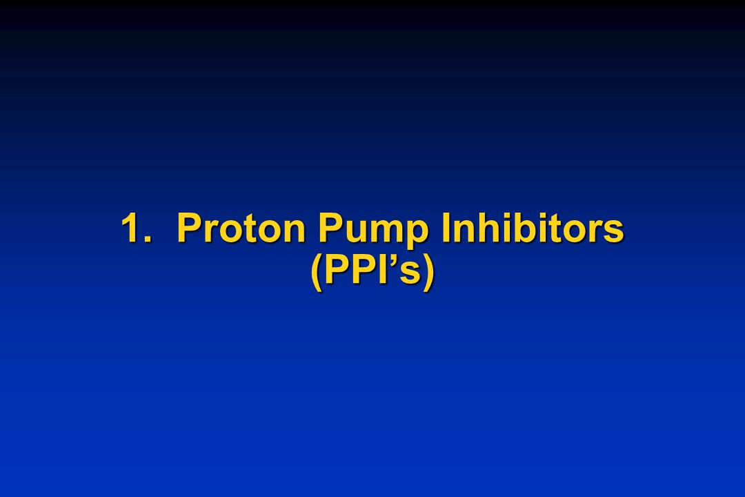 PPIs - Most potent suppressors of acid secretion - 24-48 hr effects on acid suppression - Irreversible inhibitor of proton pump; blocks 98% of acid secretion in all forms of ulcer and hypersecretory Zollinger-Ellison syndrome.