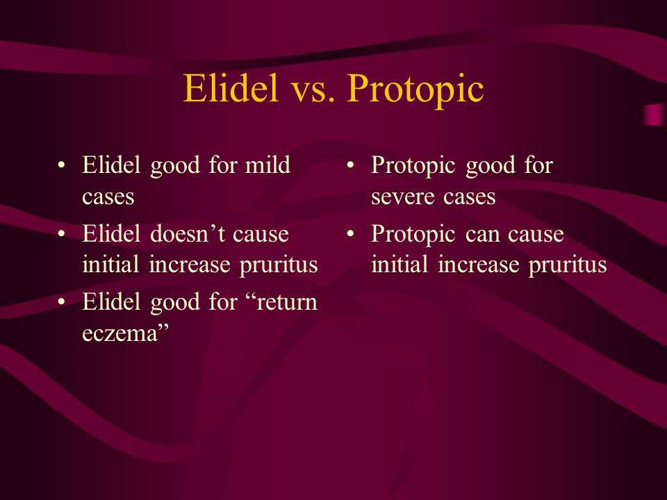 Elidel vs.