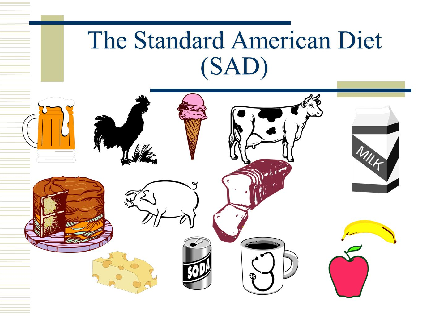 The Standard American Diet (SAD) 