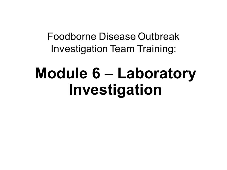 12Laboratory investigations Twenty people became ill after attending a banquet.