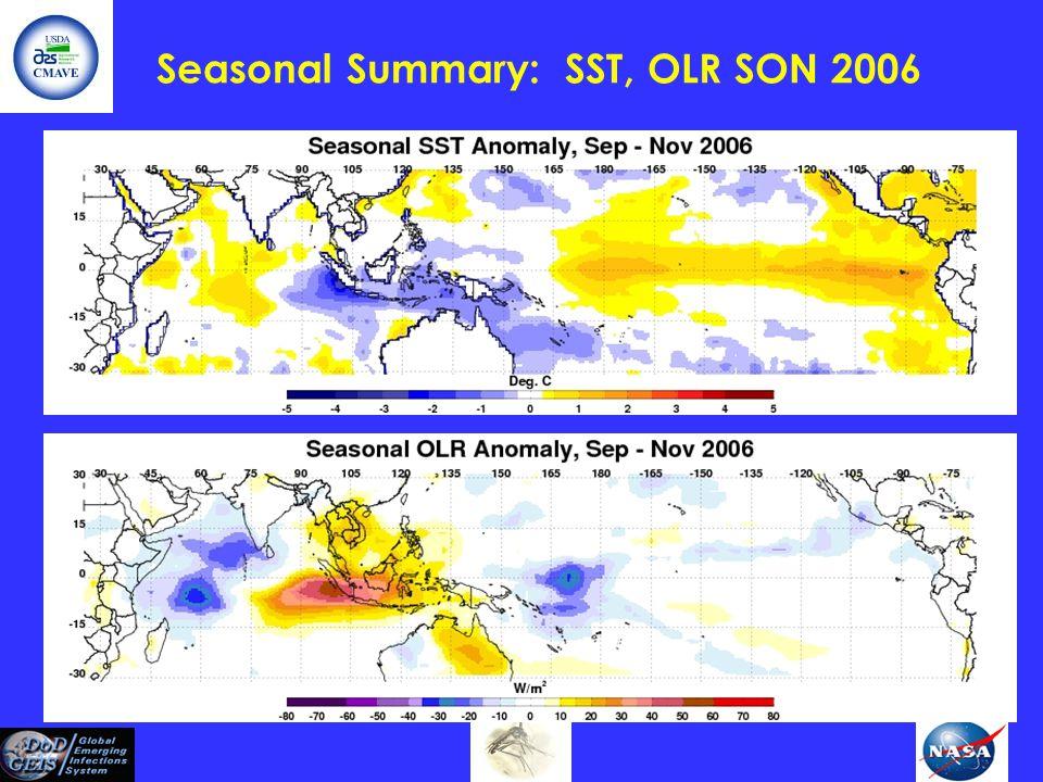 Seasonal Summary: SST, OLR SON 2006