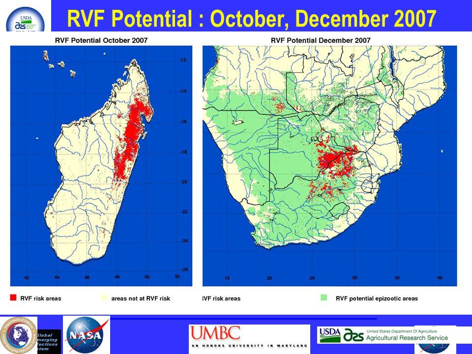 RVF Potential : October, December 2007