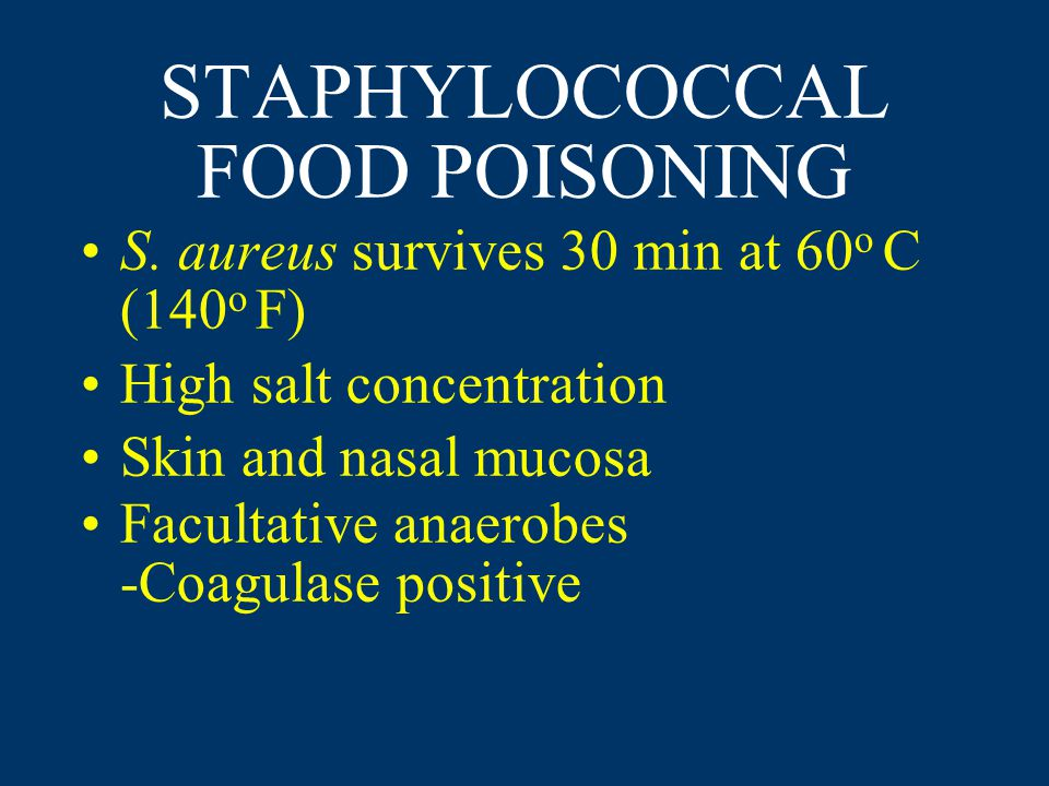 STAPHYLOCOCCAL FOOD POISONING S.