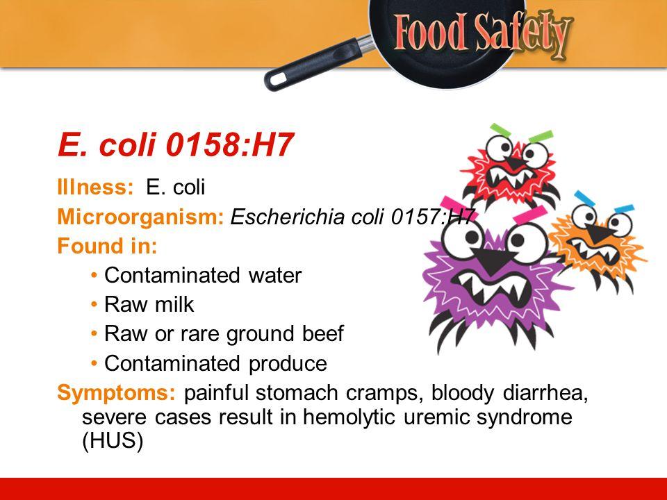 E.coli 0158:H7 Illness: E.