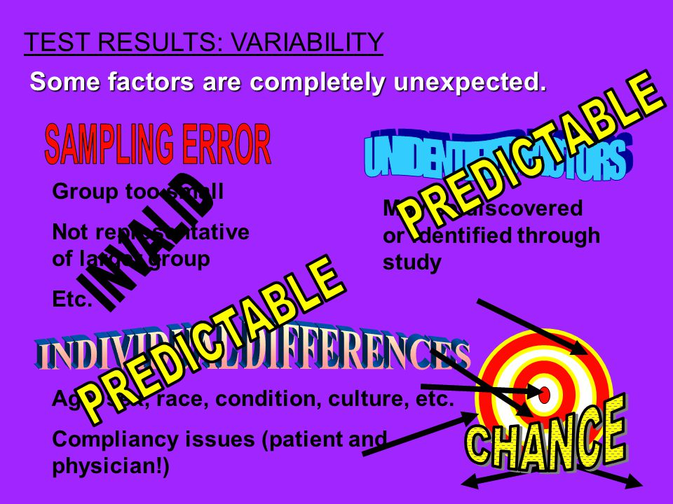 and variability due to The statistics allow us to distinguish between