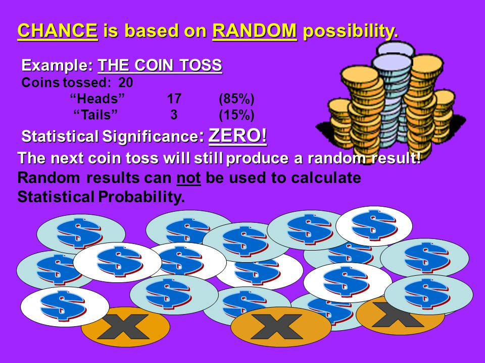 CHANCE is based on RANDOM possibility.