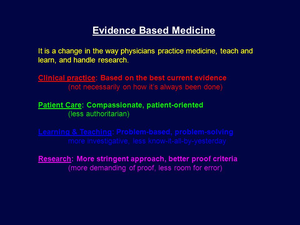 PATIENT PHYSICIAN INFORMATION Question or Problem THREE MAJOR COMPONENTS of EBM