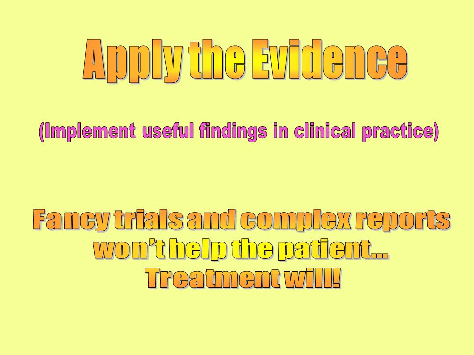 PATIENT PHYSICIAN INFORMATION Question or Problem (The Three Major Components of EBM)