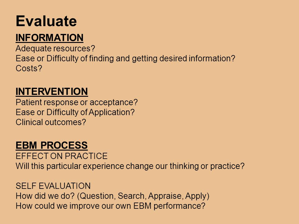 EBM: PROS, CONS and LIMITATIONS