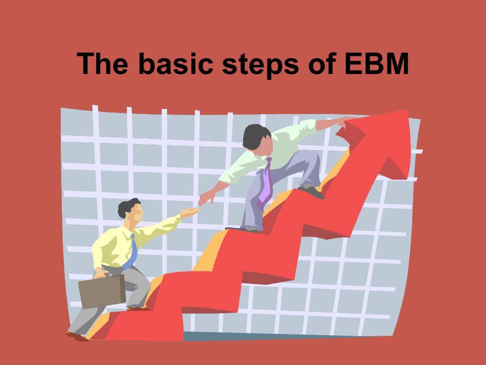 The basic steps of EBM
