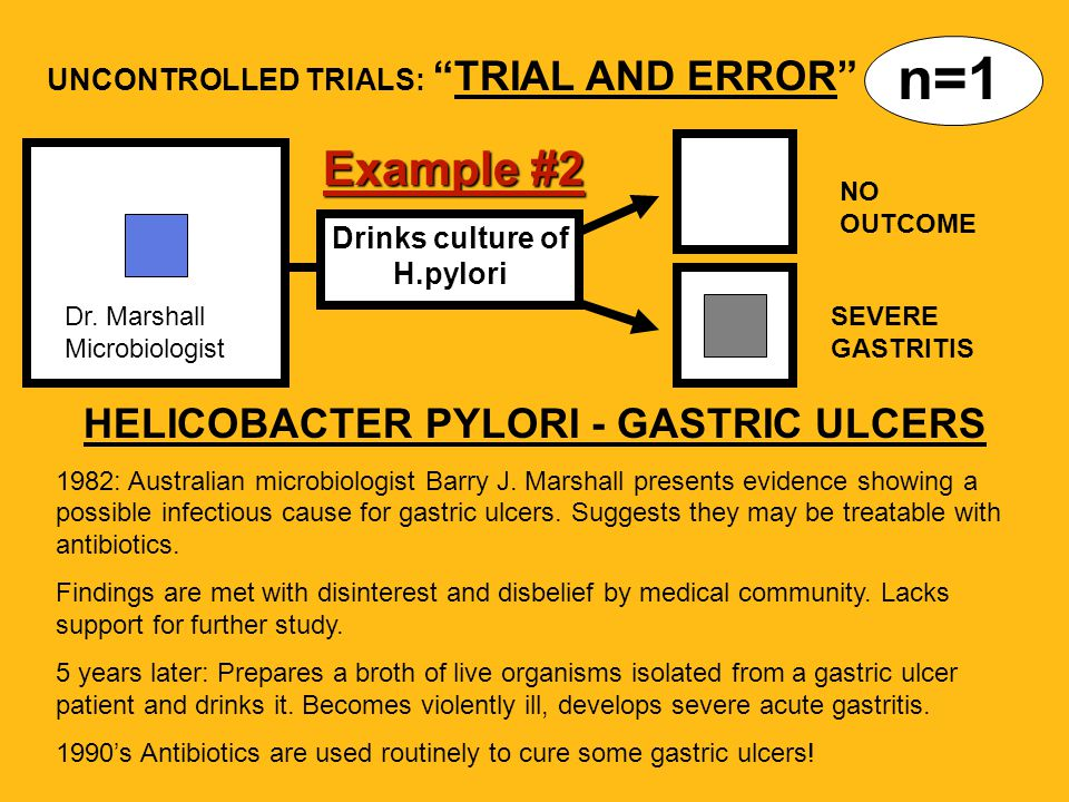 Drinks culture of H.pylori HELICOBACTER PYLORI - GASTRIC ULCERS 1982: Australian microbiologist Barry J.