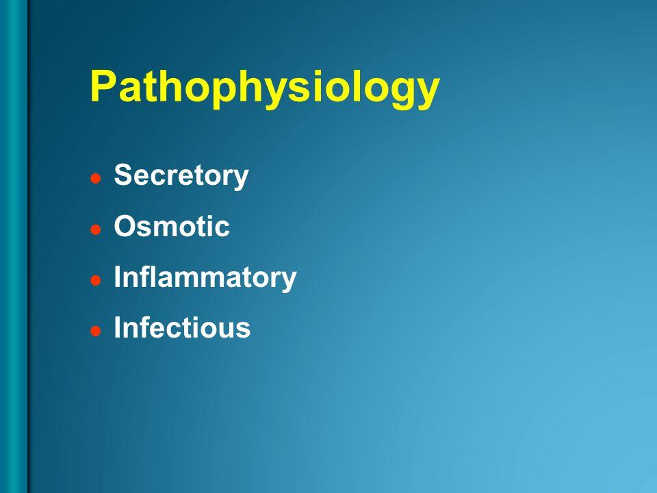 Pathophysiology Secretory Osmotic Inflammatory Infectious