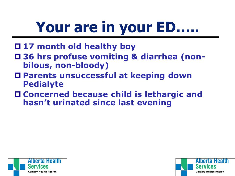 Your are in your ED…..