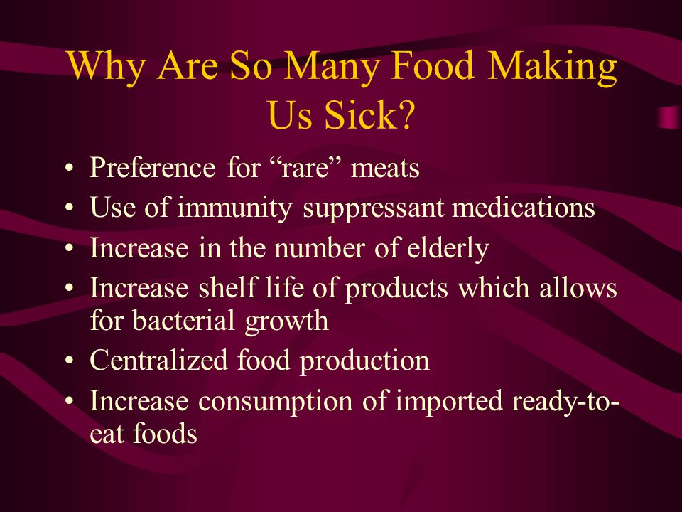 Why Are So Many Food Making Us Sick.
