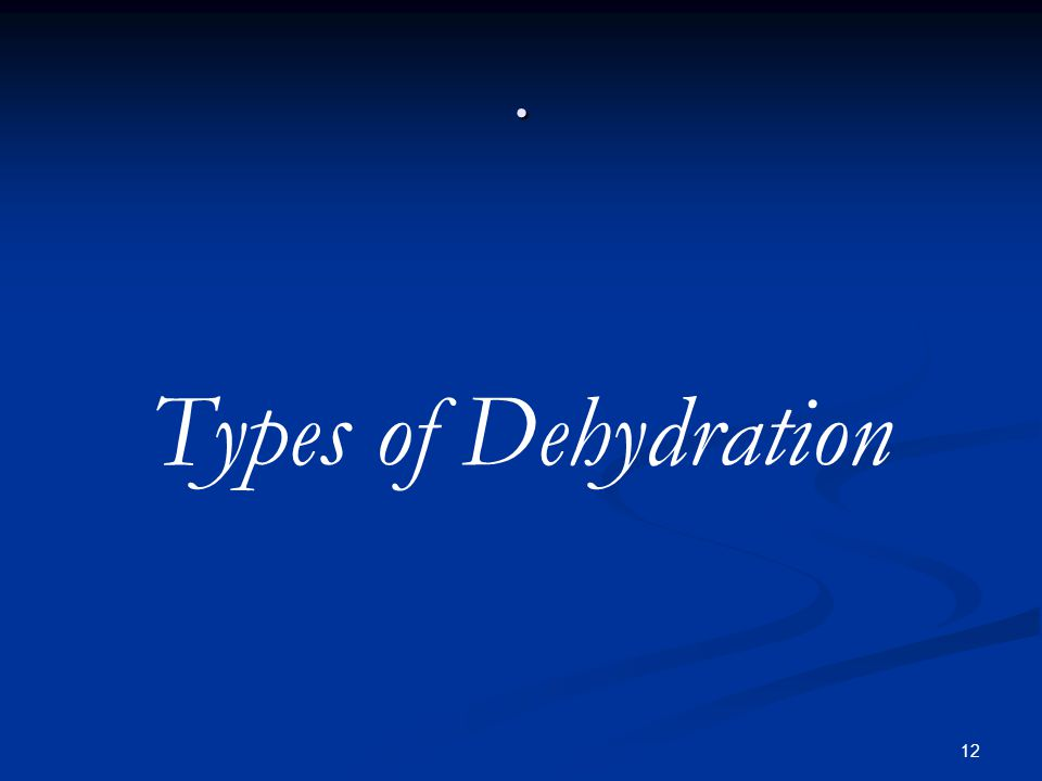 12. Types of Dehydration