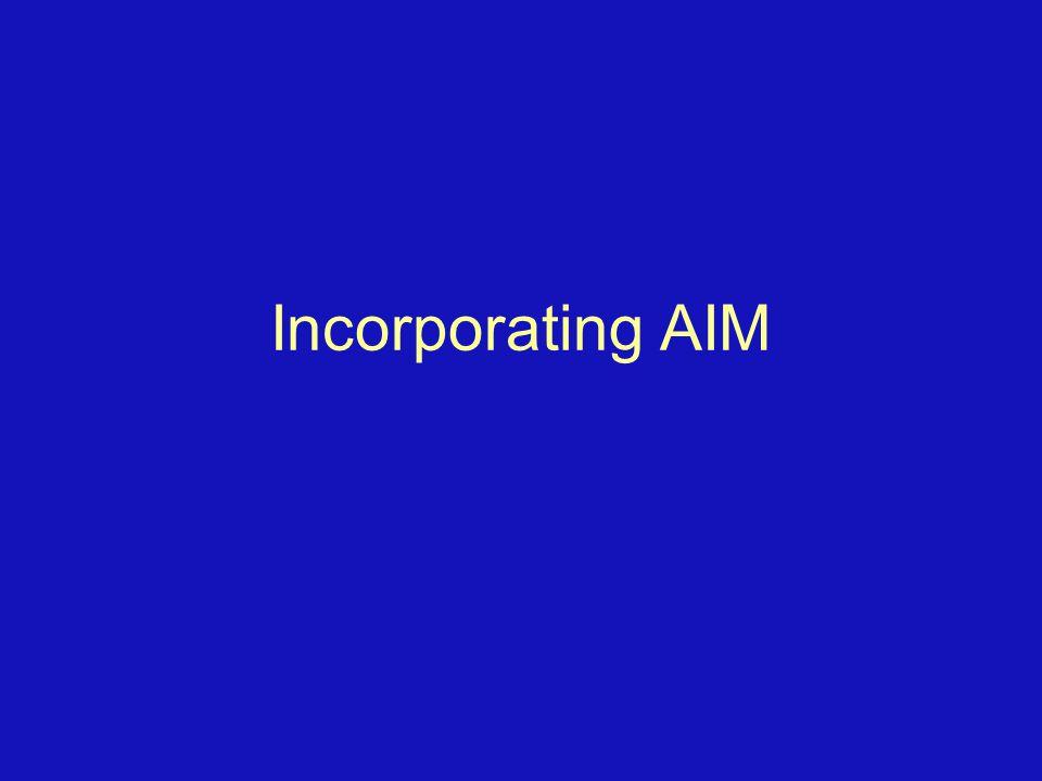 Incorporating AIM