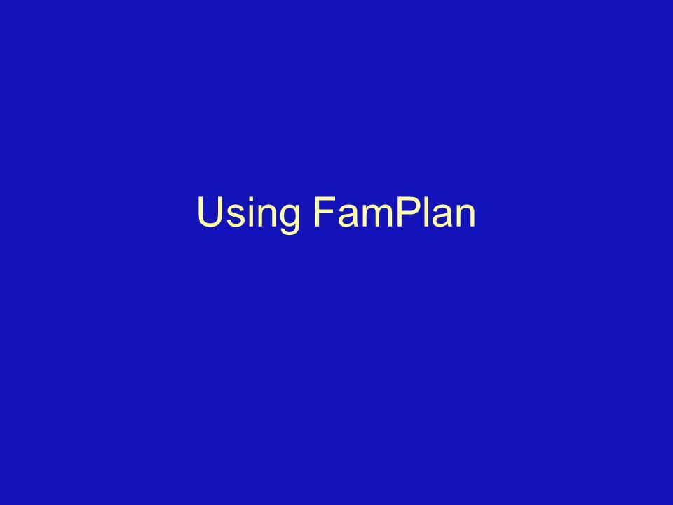 Using FamPlan